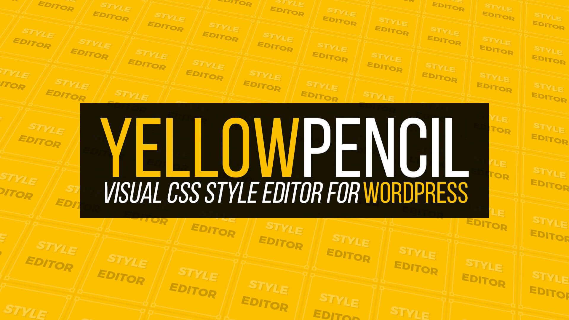 افزونه وردپرس مداد زرد Yellow Pencil